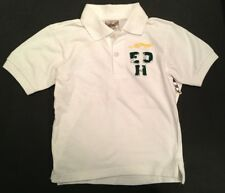 NWT ED HARDY Boys White Tiger Foil Polo Shirt Top Sz 8