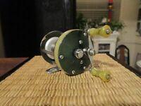 Vintage Shakespeare Green WONDEREEL #1921 Fishing Reel Model GE