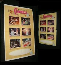 Original DISNEY CINDERELLA One Sheet + Window Card
