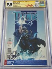 Mighty Thor #11 Cancer Society Variant Autograph Signed Stan Lee CGC 9.8 SS MCU