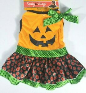 Pumpkin Dress Costume Dogs Dog Puppy Halloween Size XS & S Brand New w/ Tags