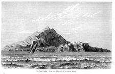 Ischia, Insel, Italien, Original-Holzstich von 1883
