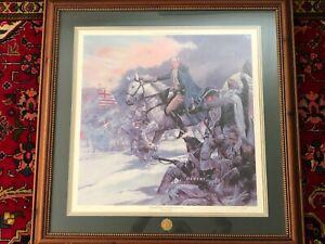 "James Dietz Limited Edition Print, George Washington ""Battle of Trenton"", Framed"