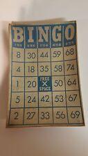 Vintage Look Blue Bingo Card Side Plate Trinket Dish Passport Collection Target