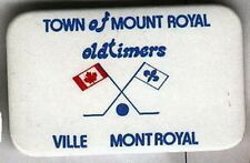 MONTREAL OLDTIMERS HOCKEY QUEBEC OFFICIAL OLD PIN BUTTON