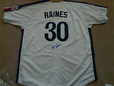 Tim Raines Montreal Expos autographed Jersey Baseball HOFer!