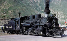 Denver & Rio Grande K-28 Mikado #476 narrow gauge steam locomotive postcard