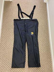 Bass Pro Shops Gore-Tex Bibs Black overalls fishing/hunt pants XXL