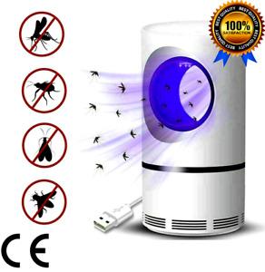 Anti Zanzara Insetti Volanti Lampada Killer Repellente LED Ammazza Zanzare USB
