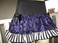 Alternative purple Bats Skirt Adult Black White Striped Gothic Party Halloween