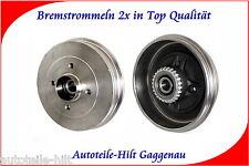 2x Bremstrommel 203mm mit Radlager für NISSAN Kubistar RENAULT Kangoo 2003-2007