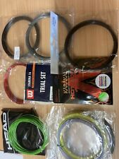 10 Assorted Sets Of Tennis String - All Single Sets