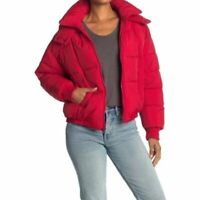 $199 Lucky Brand Short Quilted Puffer Red Jacket SZ XL NWT
