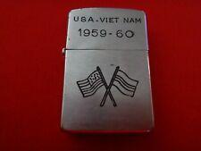 Guerra Vietnam Año 1959 Zippo Encendedor Usa-Vietnam 1959-60, Junta Usa-Rvn