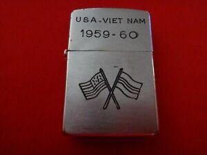 Vietnam War Year 1959 Zippo Lighter USA-VIETNAM 1959-60, Joint USA-RVN Flags