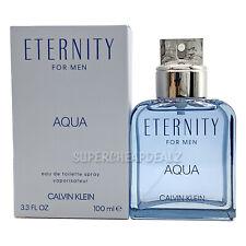 Eternity Aqua by Calvin Klein for men 3.3 oz Eau de Toilette Spray NIB AUTHENTIC