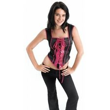 Black Gothic Corset Charmed Witch Steampunk Vampire Halloween Fancy Dress