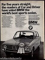 1972 BMW Car and Driver Best Sports Sedan Car Photo AD