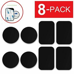 8 PACK Metal Plates Adhesive Sticker Replace For Magnetic Car Mount Phone Holder