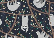 A1| Cute Cartoon Sloths Poster Size 60 x 90cm Wild Animal Poster Gift #15976
