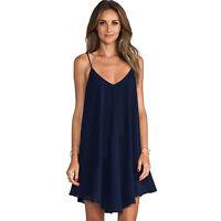 Sexy Women Summer Maxi Evening Party Dress Beach Dresses Chiffon Mini Dress