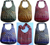 Beuteltasche Schulter Tasche Umhängetasche Baumwolle Canvas Thai Ethno Hippie