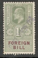 King Edward VII - 3s Green - Foreign Bill - Good Used