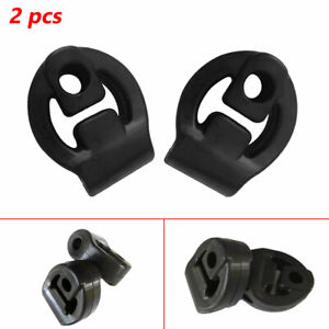 2 Pcs Rubber Car Exhaust Tail Pipe Mount Bracket Hanger Insulator Protector