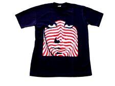 MEN'S POP ART DESIGN T SHIRT, BLUE, SIZE MEDIUM, NEW