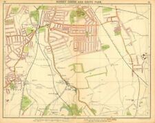 LONDON SE. Rushey Green Grove Park Catford Lower Sydenham Beckenham 1921 map