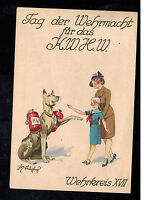 1942 Vienna Germany Picture Postcard cover Wehrmacht Day Cancel
