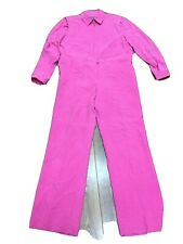 RALPH LAUREN WOMEN'S 2 PC JACKET PANTS SIZE 14 LARGE PINK 100% SILK LIGHT WEIGHT