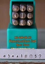 SupplyGuy 3mm 9 Stamp Punctuation Metal Design Punch Set SGCH - PUN