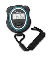 Digital Stopwatch Lap Timer Time Date Alarm Simple Operation Lightweight Black