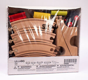 IKEA Lillabo 20 Piece Wooden Train Set Track Cars 17917 NEW 300.643.59