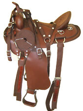 "'THSL'  WESTERN GAITED HORSE SYNTHETIC SADDLE PKG 16""/16.5"" TAN BROWN (1011BR)"
