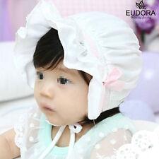 Infant Baby Girls Hat Summer  hospital Bowknot Hat Silky Sun Bonnet Beanie Hats