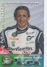 Jean-Christophe Boullion Pescarolo Sport Racing Promo Card 2009 Le Mans.