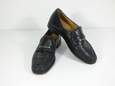 BALLY Herren Leder Slipper Schuhe Gr 42,5 DE 8UK  Schwarz   ( Q 8481 )