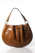 Bally Brown Leather Single Strap Shoulder Handbag