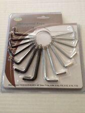 HEXAGONAL KEYS SET OF 14 METRA ZIES AND AF SIZES Allen Wrench Hex Key