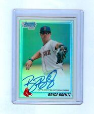 Bryce Brentz 2010 Bowman Chrome Draft Refractor Auto RC #12/500 RED SOX