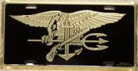 Aluminum Military License Plate Navy SEAL NEW Made in the USA -  NO TEXT