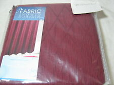 """New Maytex Fabric Shower Curtain """"Julia"""" 72x72 -  Red Diamond- New In Package"""