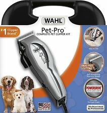 Pet Clipper Kit, 13 Piece, High Carbon Steel, Includes DVD, More Power, NEW