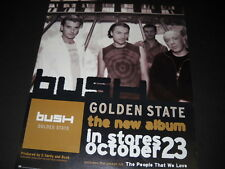 Bush The New Album Goldden State October 23, 2001 Promo Poster Ad mint condition