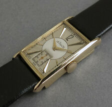 JAEGER LECOULTRE 14K Solid Gold Art Deco JAPANESE FLAG  Gents Vintage Watch 1943