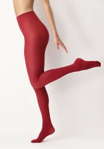 All Colors 50 den, opaque tights, soft and silky touch, red, S/M=6-12