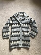 Vtg IceLamb Icewool 100% Wool Sweater Tunic Coat Virgin Kinetic Small Rare S