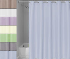 """EZ ON Waffle Weave Fabric Shower Curtain with Snap Off Liner 70""""x75"""""""